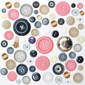 Various sewing button — Stock Photo
