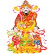 Stock Photo: Chinese New Year god of wealth