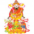 Chinese New Year god of wealth — Stock Photo #9416189