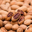 Pecan background - Stock Photo