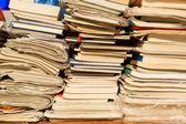 Big pile of books — Stock Photo