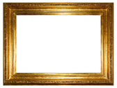 Golden photo frames (clipping path!) — Stock fotografie