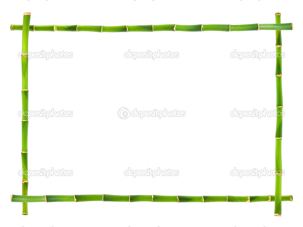 Bamboo frame isolated on white. — Stock Photo #9423349