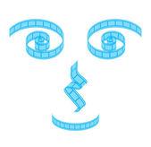 Film strip concept symbols — Stock Vector