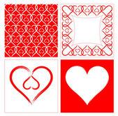 Heart shape background — Stock Vector