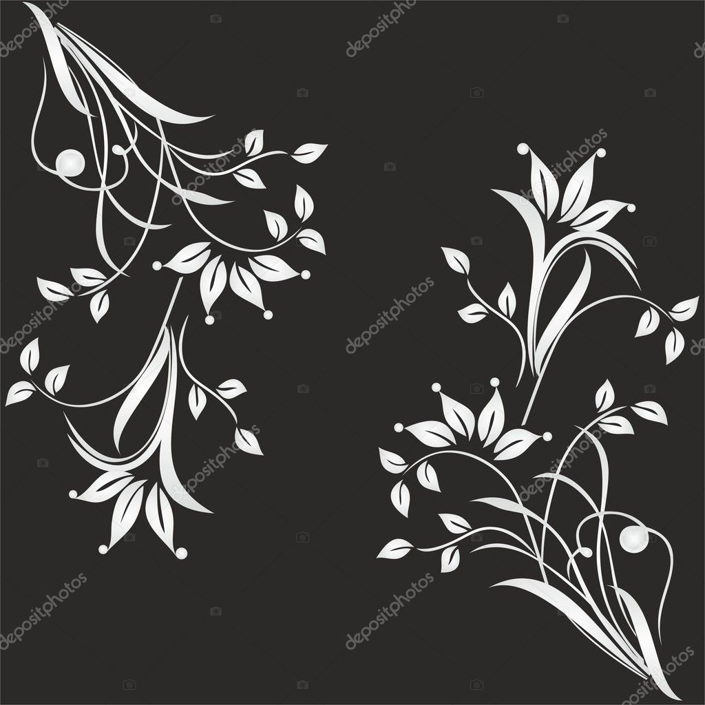 Abstract seamless floral pattern — Stock Vector #10423175