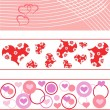 Royalty-Free Stock Imagen vectorial: Triple set of Valentine\'s Day