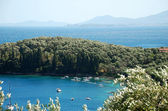 Landscape of the island of Corfu, Greece — Stock Photo