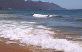 Glifada beach, Corfu , Greece, — Stock Photo