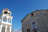 Bell tower and church in Macedonia — Stock Photo