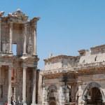 Celsius bibliotek i efesus nära izmir — Stockfoto