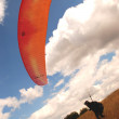 Stock Photo: Paragliding - Enjoyment of sky.