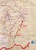 Mappa meteorologica — Foto Stock