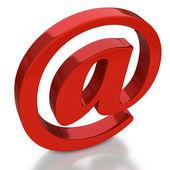 символ электронной почты с отражением на белом фоне — Стоковое фото