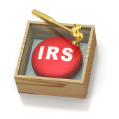 Emergency red pill reminder for IRS — Stock Photo