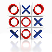 Tick Tack Toe on a white background — Stock Photo