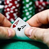 Poker Aces pair — Stock Photo