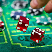Two dices for craps gambling game — Stock Photo