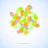 抽象的な正方形. — ストックベクタ
