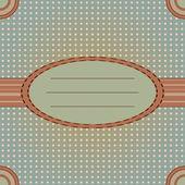 Decorative oval frame. — Stock Vector