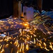 Laser cutting close up — Stock Photo #10168272