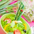 Bowl with a salad on the table — Stock Photo #9824213