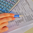 Income tax calculation — Stock Photo