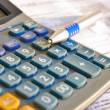 Tax calculator and pen — Stock Photo #9728779