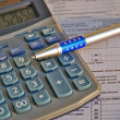 Tax calculator and pen — Stock Photo #9728787