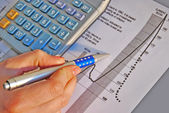 Calculate investing growh — Stock Photo