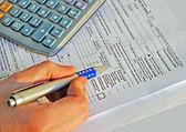 Income tax calculation — Stock Photo