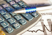 Calculate investing growh concept — Stock Photo
