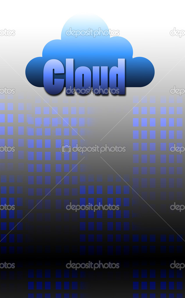 A Simple Cloud computing concept design — Stock Photo #10499041