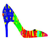 Sale embedded in the shape of a high heel shoe — Stock Photo