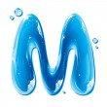 ABC serie - lettera di acqua liquida - capitale m — Vettoriale Stock  #9307848