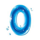Numéro de série d'abc - eau liquide numéros - 0 — Vecteur