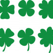 Stock Vector: Shamrocks