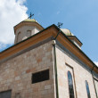 Small orthodox church in a sunny day — Stock Photo
