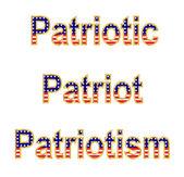 Patriottische woorden — Stockvector