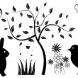 Spring Elements - Stock Vector