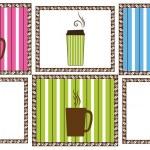 Pinstripe Coffee Tiles — Stock Vector