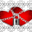 Locked Hearts — Stock Vector