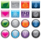 Elemental Buttons — Stock Vector