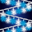 Snow Flake Lights — Stock Vector