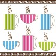 Royalty-Free Stock Vector Image: Pinstripe Coffee Cups