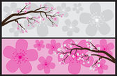 Blossom Banners — Stock Vector