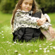 Girl on grass — Foto Stock