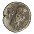 Antique Greek Silver Coin — Stock Photo