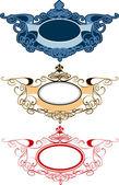 Decorative Ornament Labels — Stock Vector