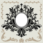 Floral Decoration Frame — Stock Vector